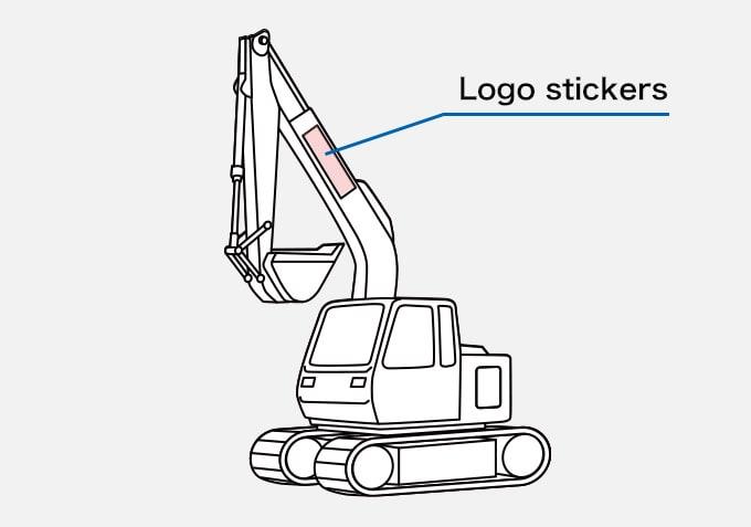 Excavator Logo stickers