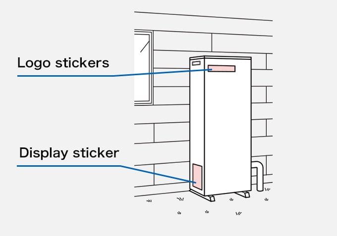 Boiler Logo stickers,Display sticker