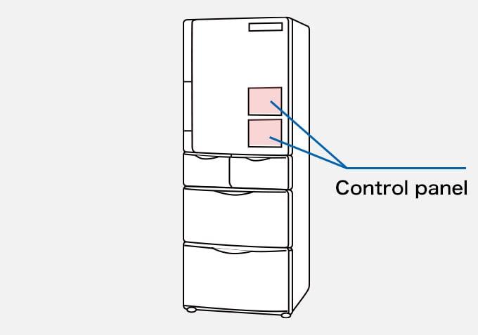 Refrigerator Control panel