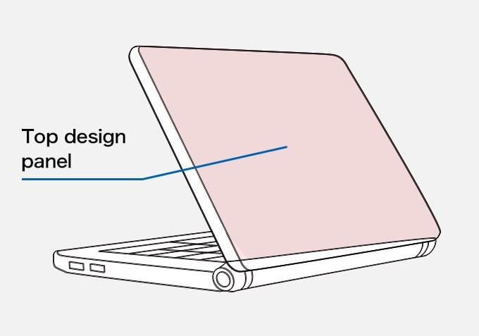 Laptop Computer Top design panel
