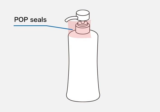 Bottle with Pump Dispenser POP seals