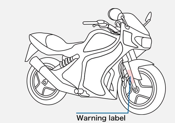 Motorbike Warning label