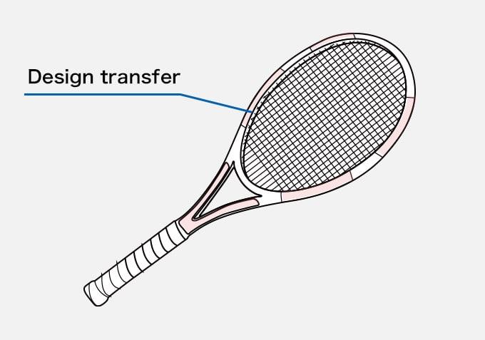 Tennis Racket Design transfer