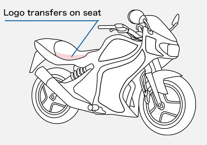 Motorbike Logo transfers on seat