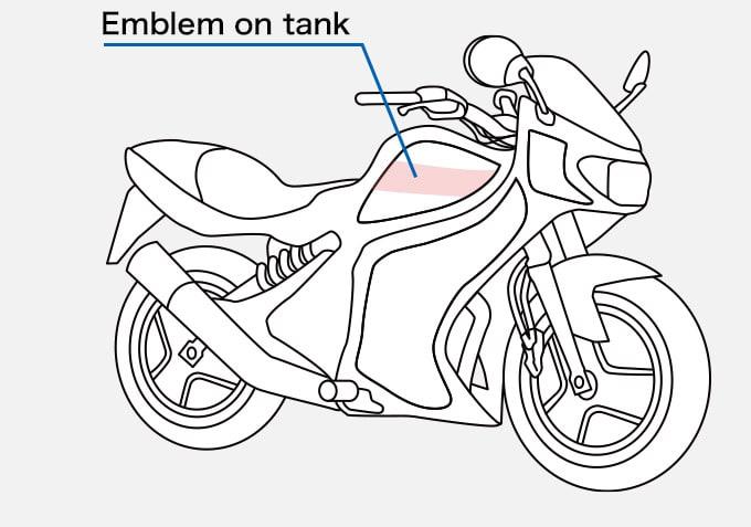 Motorbike Emblem on tank