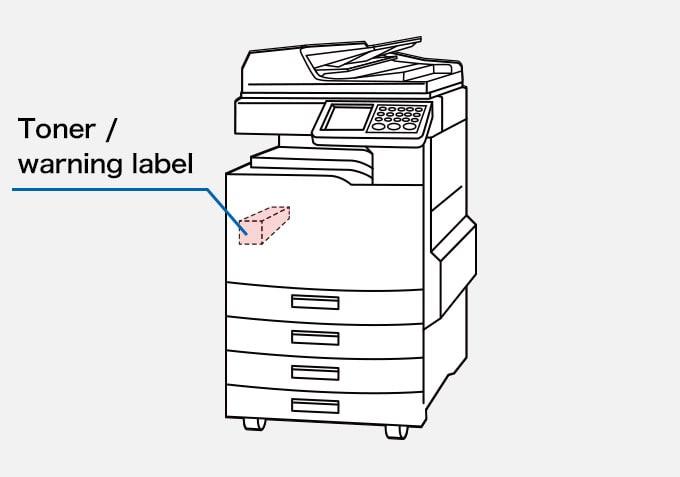 Printer / Photocopier ,Toner / warning label