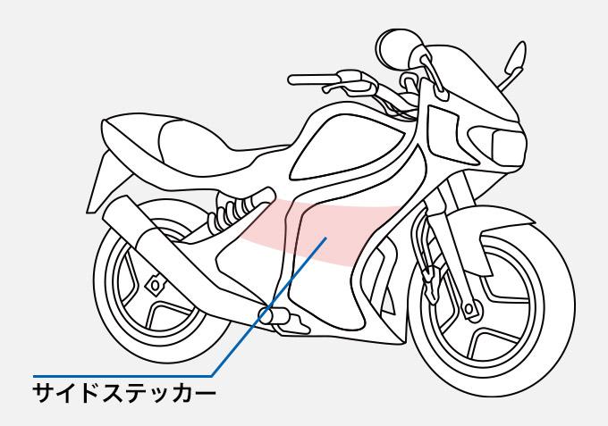 バイク サイドステッカー